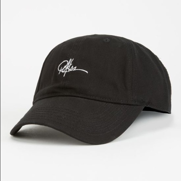 106c0d74a Young and reckless signature dad hat in black
